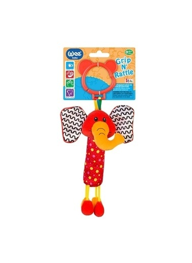 Wee Baby Grip N Teether-Elephant Oyuncak Renkli